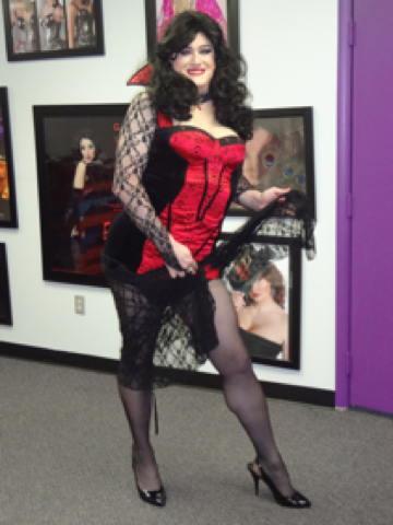 Sexy crossdresser costume