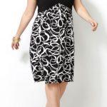 Avenue pleat top geo print dress