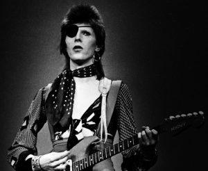 Performing 'Rebel Rebel' on February 13 1974.