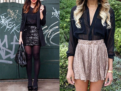 sequin skater skirts