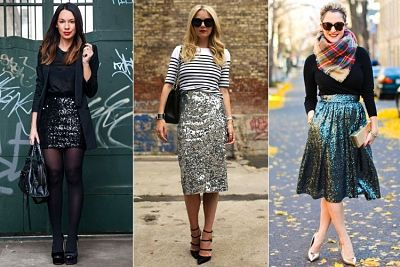 sequin skirts-different lengths and styles