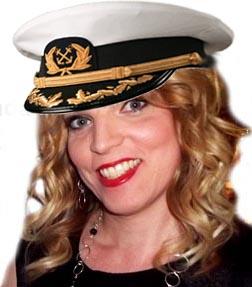 Captain Amanda welcomes you aboard.