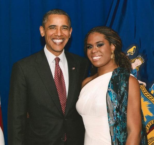 Tona with President Obama.