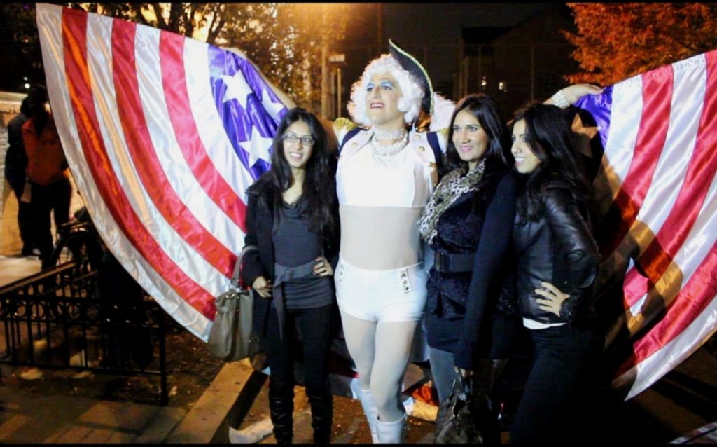 Competitors in 17th Street High Heel Race.