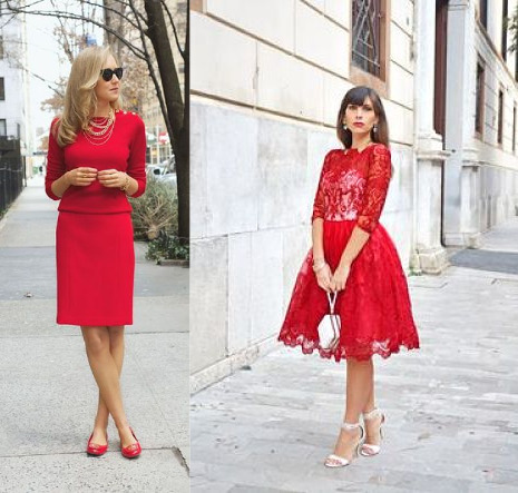 red dress looks
