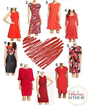 red dresses for valentines day