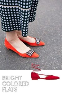 brightly colored flats