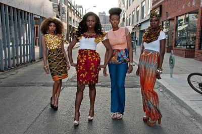 Black ladies in ankara prints