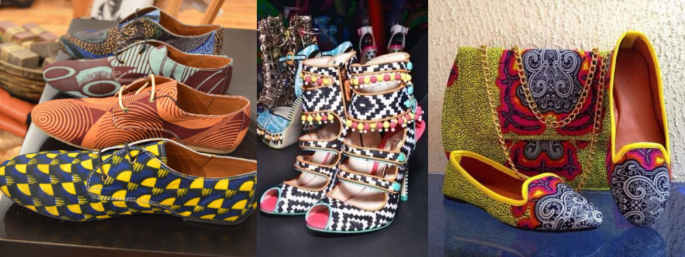 ankara shoes and boots and purse