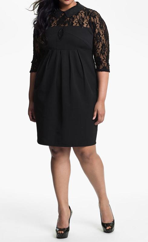 Empire shift lace yoke Dress