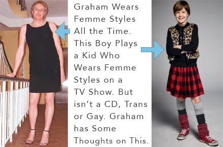 Thoughts on the Boy in Girl's Clothes on the Rosanne Reboot