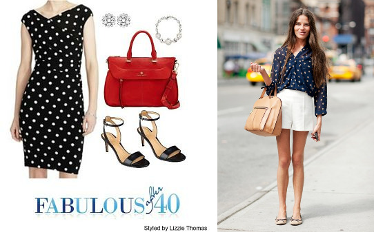 dressy and casual polka dot looks
