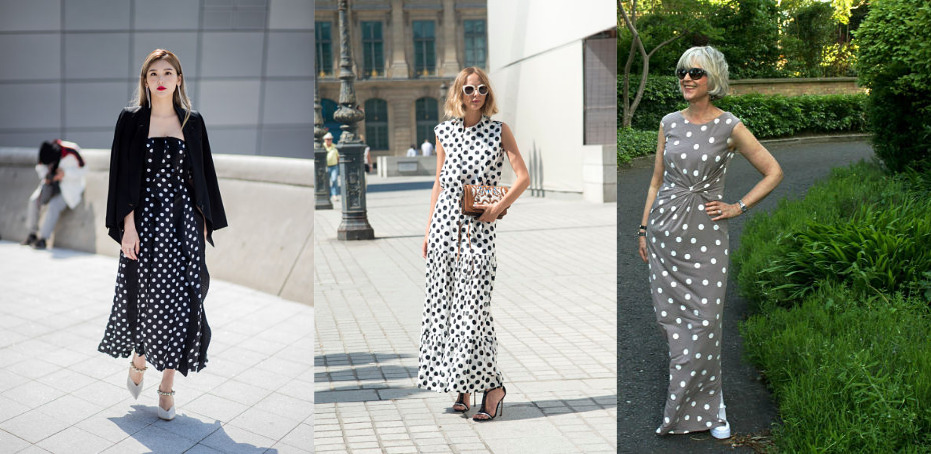 high vs low contrast polka dots