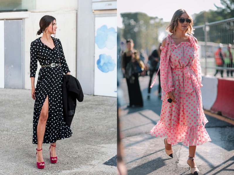 sophisticated ve feminine polka dot look