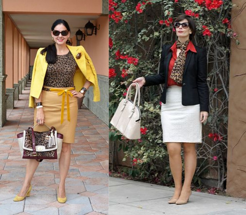 leopard scarf and purse