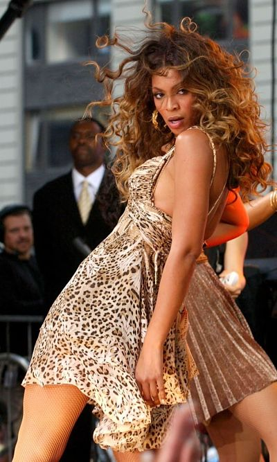 Beyonce in leopard print