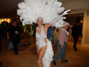 You don't bang out this costume in a day. (TGF Contributor Christine Zee @ Henri David's Ball.)