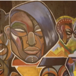 Detail from mural.