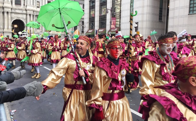 Mummers group from 2016 parade.
