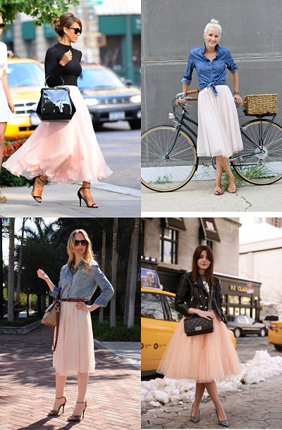 tulle skirt combinations 2