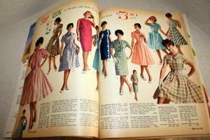 Dresses in a 1962 Sears Catalog.