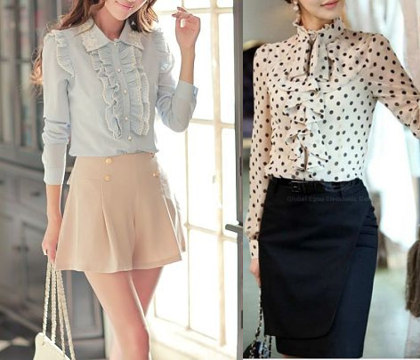 Ruffled blouses
