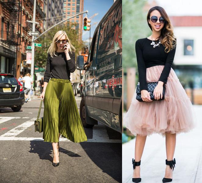 simple top full skirt