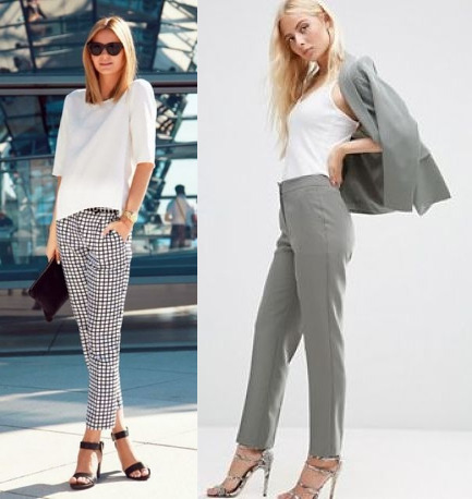 tailored trousers and any top