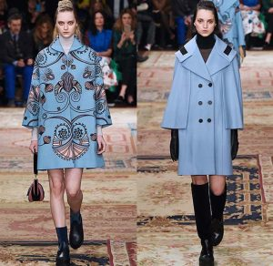 Colorful fall coats from Antonio Marras.