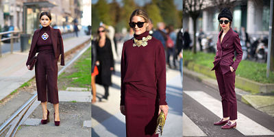 bordeaux monochromatic outfits