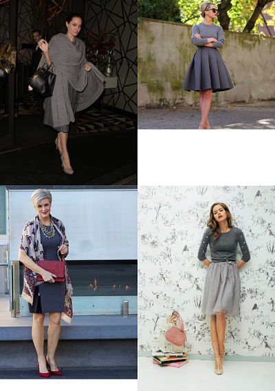 grey monochromatic outfits
