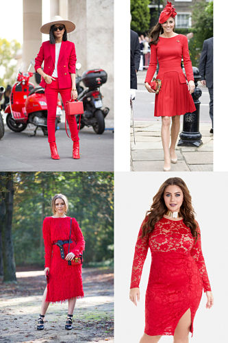 red monochromatic outfits