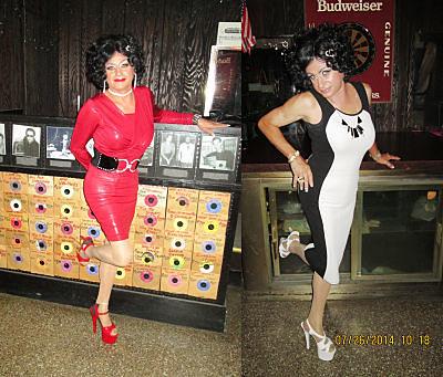 Vikki La Fontaine in cocktail dresses