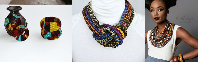 ankara earrings and neck pieces