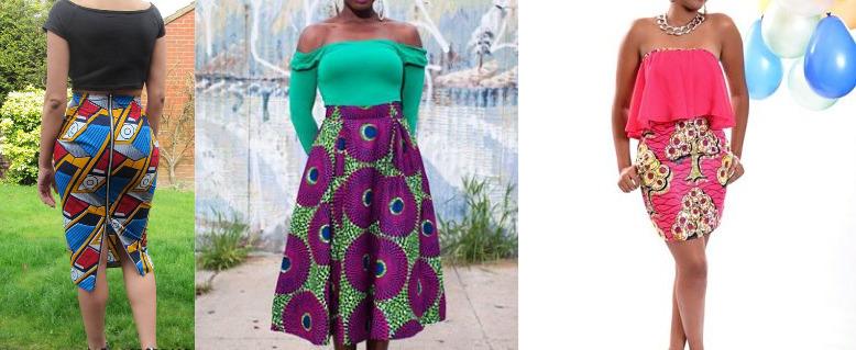 ankara short skirts