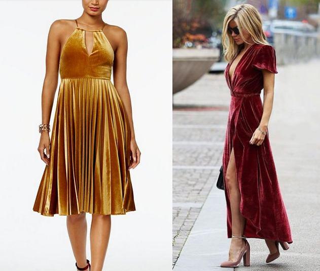 festive velvet dresses