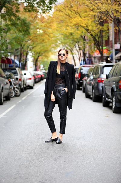 leather-trousers-sheer-blouse