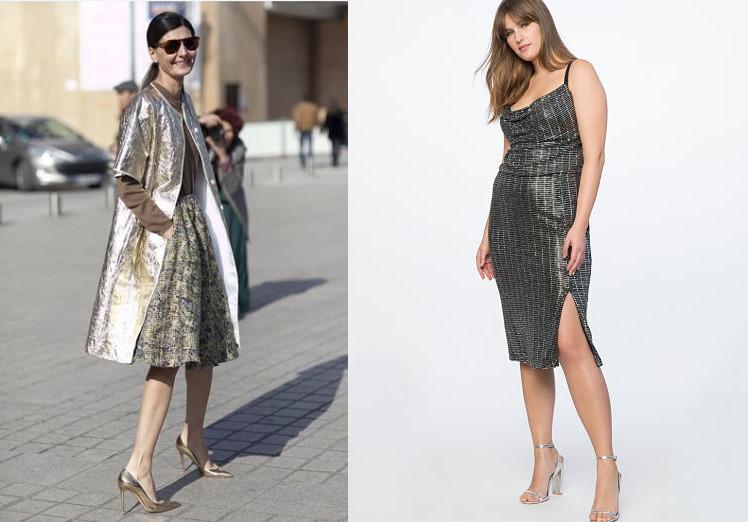 festive glittering metallic dresses