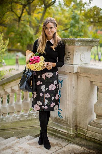 festive pencil-skirt-blouse